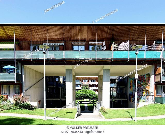 Salzburg, wooden housing complex, house in Austria, Salzburg