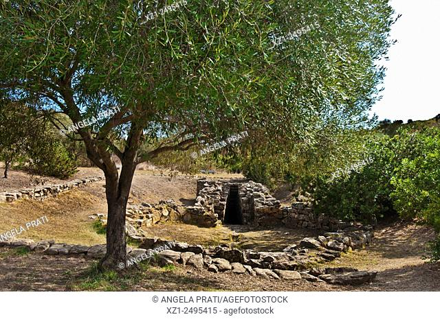 Italy, Sardegna, Olbia, well temple Sa Testa, dating Late II millennium BC
