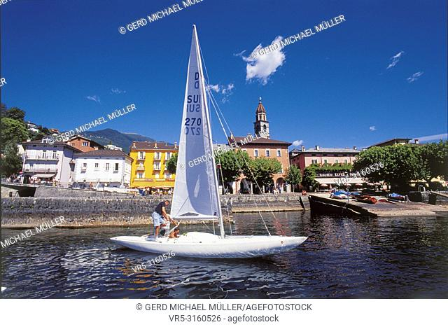 Ascona at the Lago Maggiore is famous for swiss and international tourists and sailors