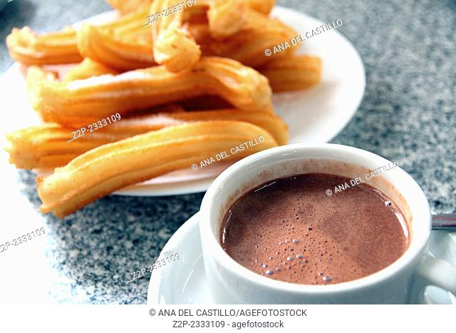 churros with hot chocolate Spain