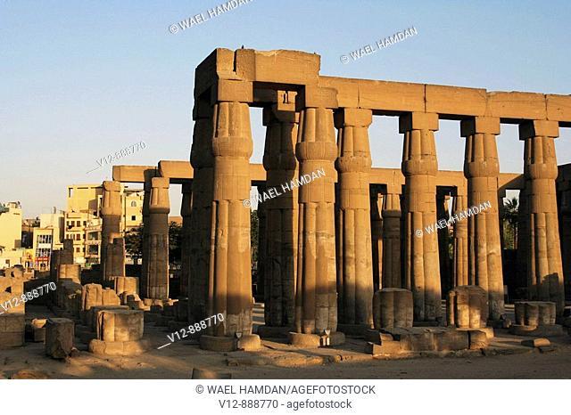 columns, Temple Of Luxor, Luxor, Egypt