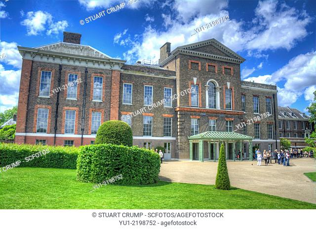 HDR image of Kensington Palace a royal residence set in Kensington Gardens, in the Royal Borough of Kensington and Chelsea in London, England