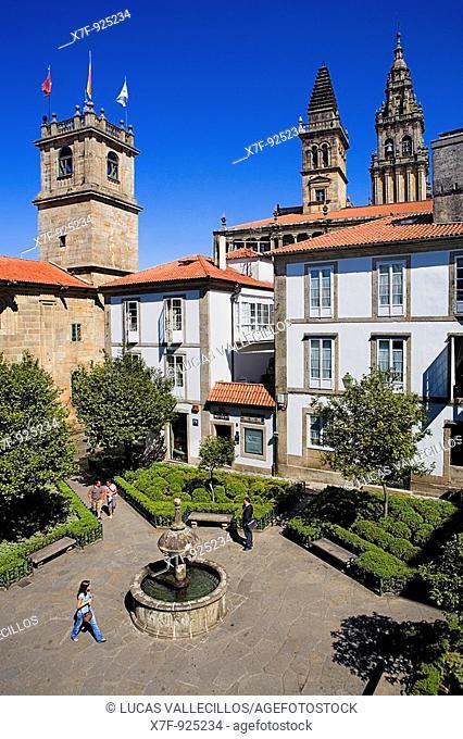 Praza de Fonseca  Santiago de Compostela Coruña province Spain  Camino de Santiago