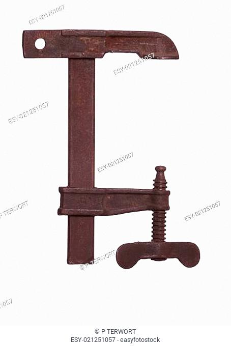 old iron clamp