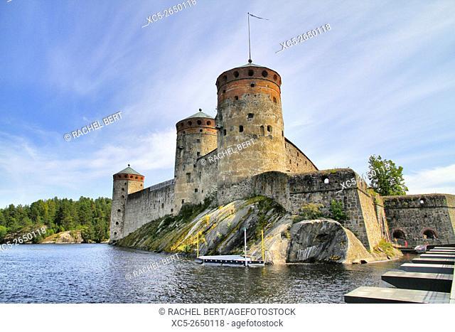 Olavinlinna castle in Savonlinna. Finland