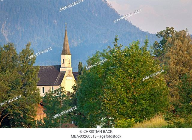 Old church of Großweil, Großweil, Jochberg, Alpine foreland, Bavaria, Germany
