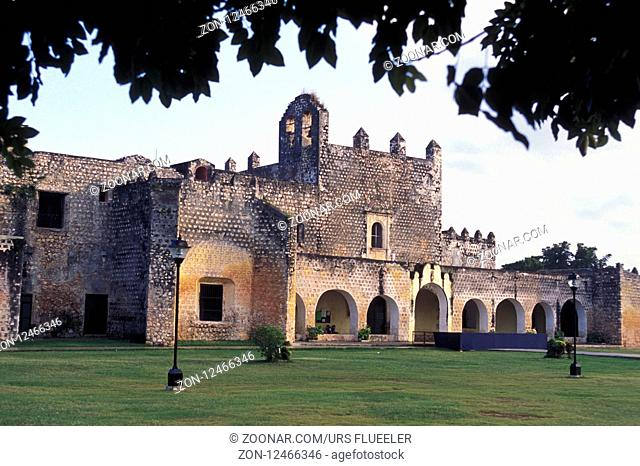 the monastery of San Bernardine of Siena in the old town of Valladolid on Yucatan in the Province Quintana Roo in Mexico in Central America