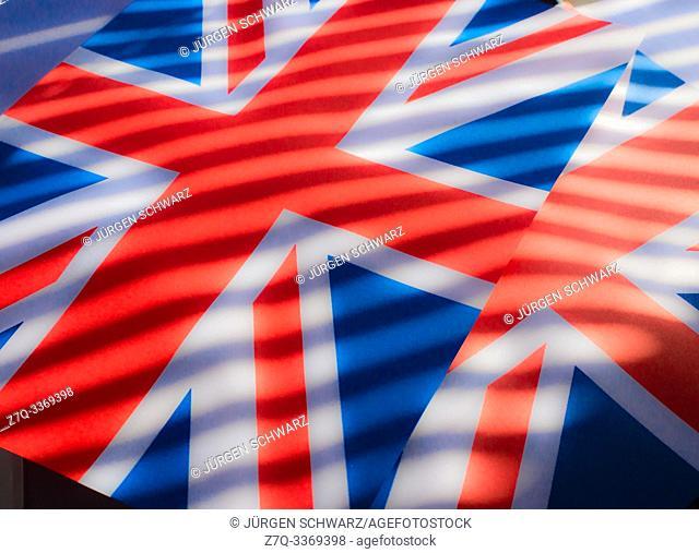 Union Jack with dark stripes