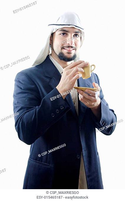 Arabic tea, arab man