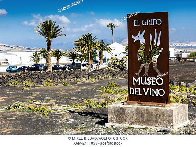 El Grifo wine cellar and museum. San Bartolome, Lanzarote, Canary Islands, Spain, Europe