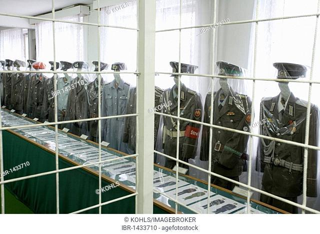 Soldiers uniform, army museum, Prora, Ruegen Island, Mecklenburg-Western Pomerania, Germany, Europe
