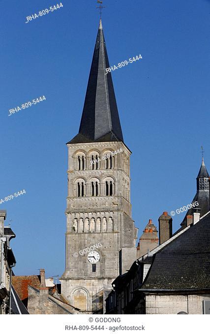 Notre-Dame Church, La Charite-sur-Loire, Nievre, Burgundy, France, Europe