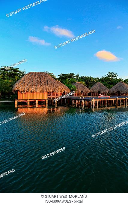 Waterfront chalets, St. Georges Caye, Belize, Central America