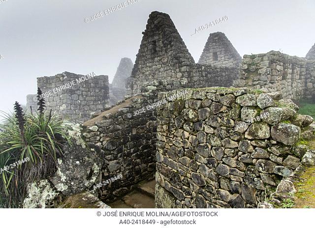 Archaeological site of Machu Picchu, Cusco, Peru. Industrial zone