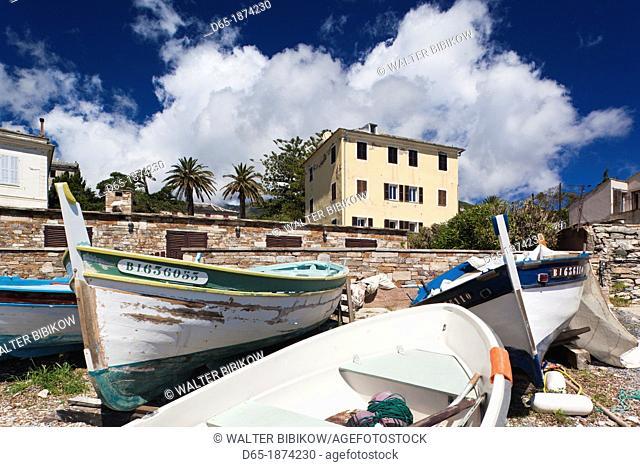 France, Corsica, Haute-Corse Department, Le Cap Corse, Erbalunga, town harbor