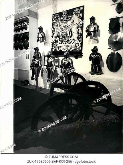 Jun. 06, 1968 - New Armoturies At The Tower Of London To Be Opened Day: New armouries at the Tower of London Containing the finest exhibition of sporting guns...