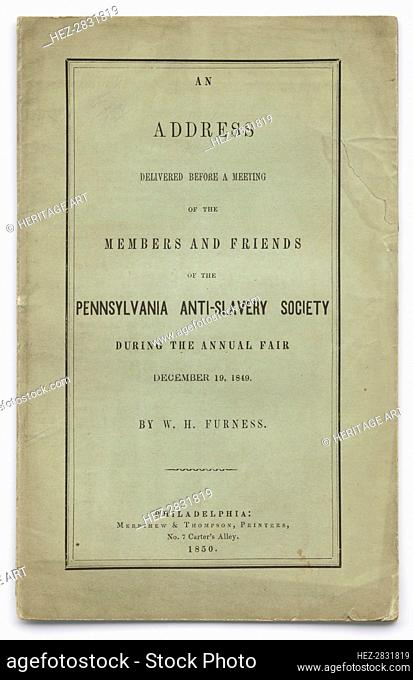 'An Address Delivered Before a Meeting of the Members and Friends of the Pennsylvania'.., 1850. Creator: Unknown