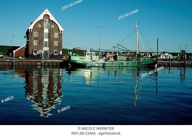 Fishing harbour Oudeschild Texel Netherlands