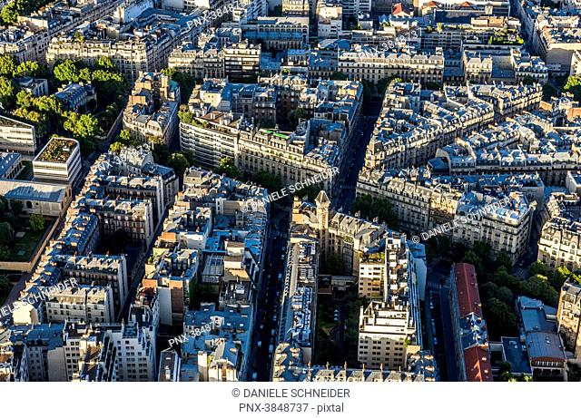 France, 7th arrondissement, view from the Eiffel Tower (avenue Rapp, rue de Montessuy)