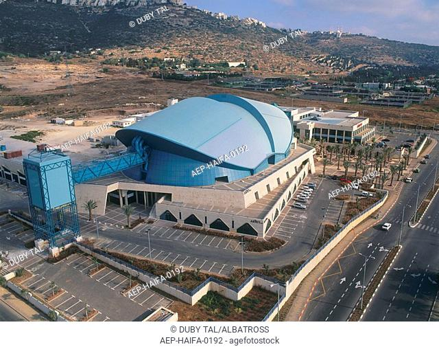 Aerial photograph of the Congress Center in the southern Entrance of the city of Haifa