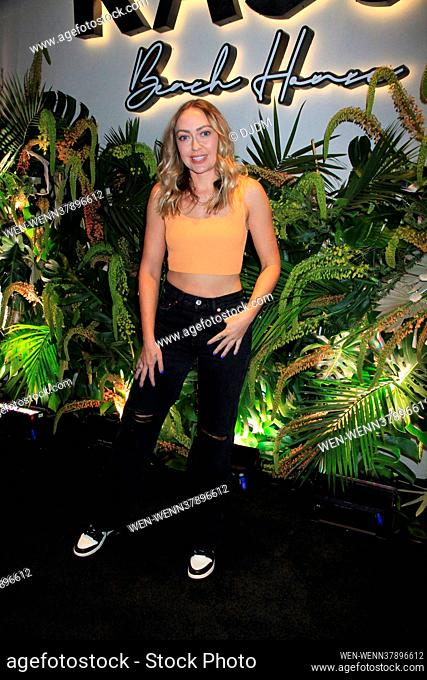 Celebrities attend the grand opening of Kassi Beach House in Las Vega, Nevada Featuring: Brandi Cyrus Where: Las Vegas, Nevada