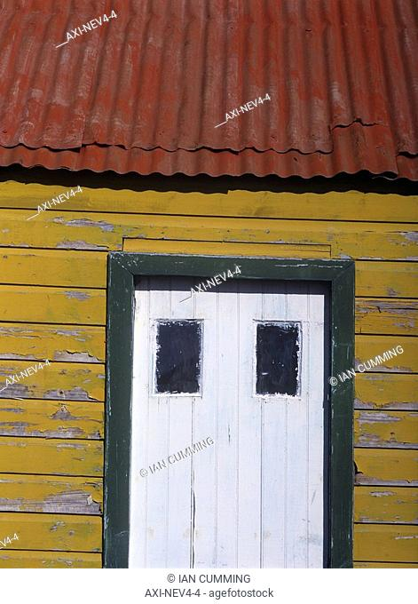 Detail of small wooden house