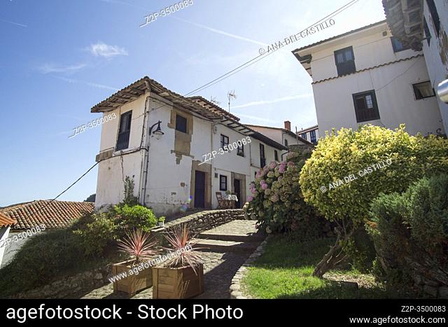 Tazones Asturias Spain: A view of the village of Tazones in Asturias one of the most beautiful villages in Spain