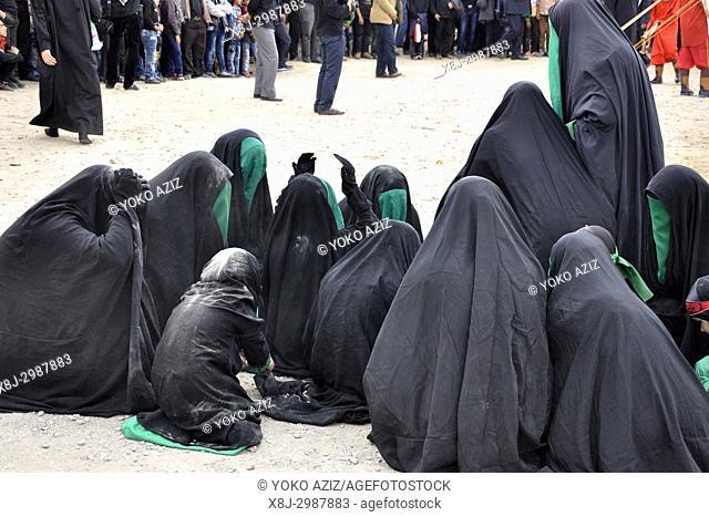 Iran, Yazd, Moharram celebration, women