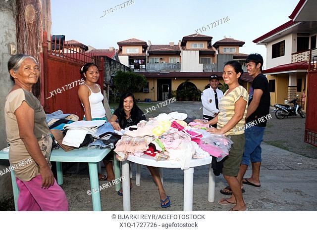 Filipinos selling second-hand clothes  Cebu City, Cebu, Visayas, Philippines
