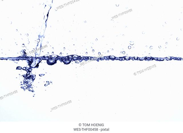 Pouring water, close-up