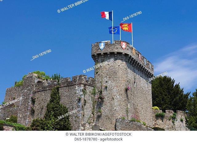 France, Normandy Region, Manche Department, Avranches, Place Littre, town castle, build AD 950