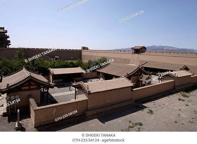 Headquarter of Youji General, Fort of Jiayuguan Great Wall, Jiayuguan, Silkroad, China