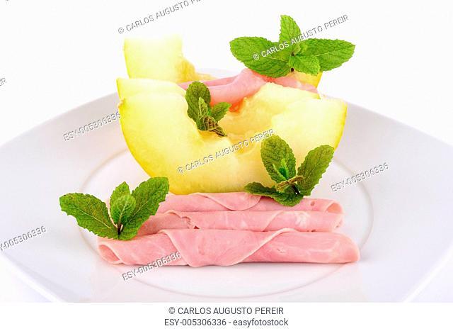 Ham and melon