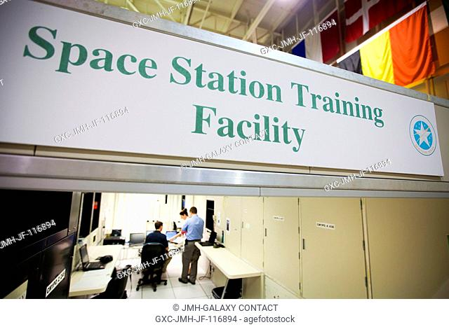 The crew of STS-135, the final space shuttle mission, trains in the Space Station Training Facility at NASA's Johnson Space Center May 19, 2011