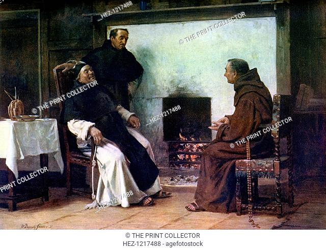 'A Good Story', 1881, (1912). A colour print from Famous Paintings with an introduction by Gilbert Chesterton, (Cassell and Company, London, New York, Toronto