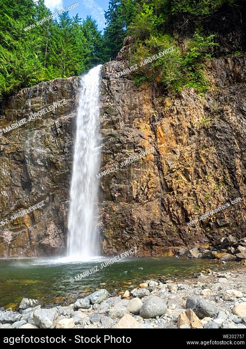 Franklin Falls is a waterfall on the South fork of the Snoqualmie River, the first of three major waterfalls on the South Fork Snoqualmie River