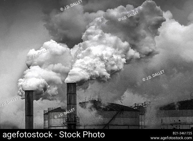 France, Picardie. Sugar beet factory at Roye