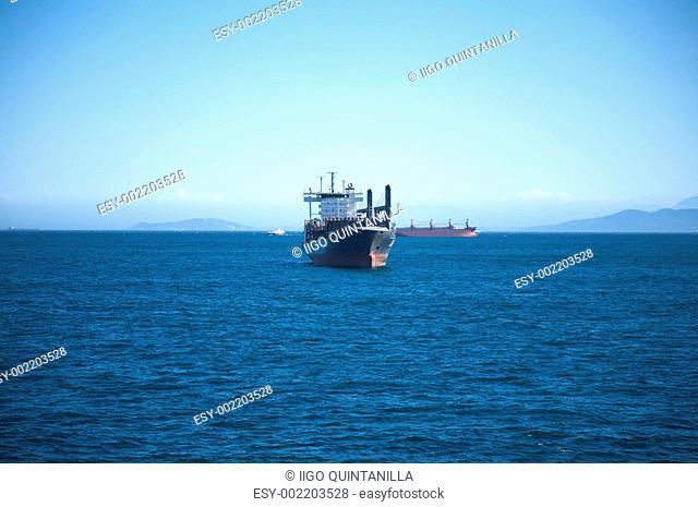 front oil tanker boat