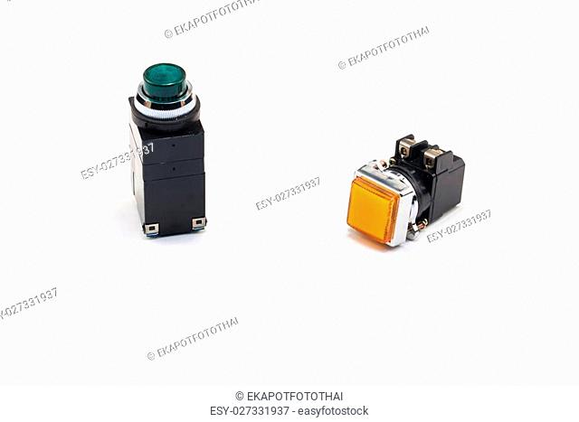 Pilot light switch use to control electric system and machine