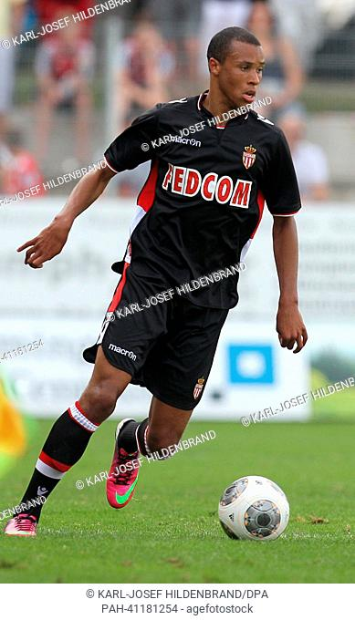 Monaco's player Marcel Tisserand in action during the soccer test match between FC Augsburg and AS Monaco in Memmingen, Germany, 20 July 2013