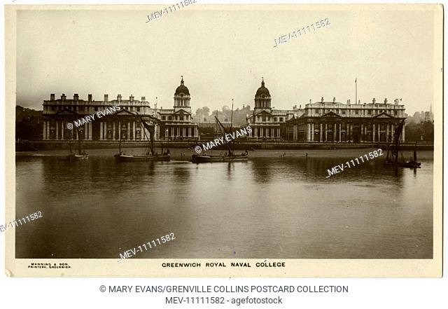 The Royal Naval College, Greenwich. This card was sent home by (later) Lieutenant Richard William Henry MacArtney Empson, Portsmouth Battalion