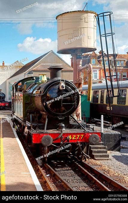 PAIGNTON DEVON/UK - JULY 28 : 4277 BR Steam Locomotive GWR 4200 Class 2-8-0T Tank Engine at Paignton Devon on July 28, 2012