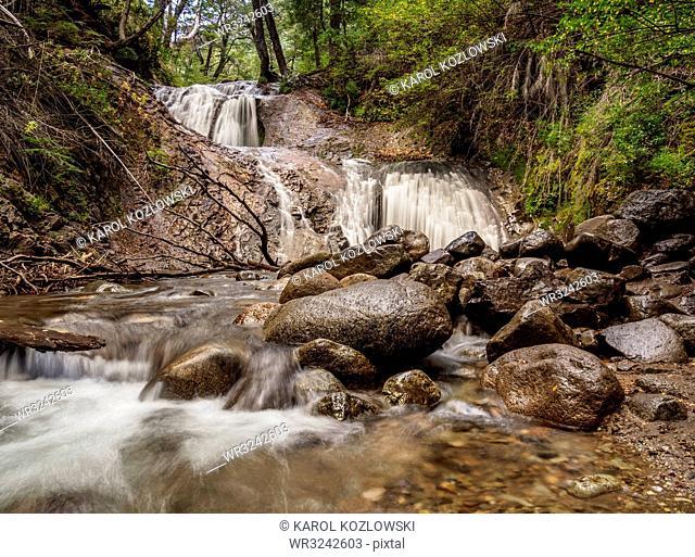 Los Duendes Waterfall, Nahuel Huapi National Park, Rio Negro Province, Argentina, South America