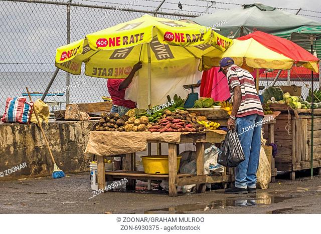 Buying Food In The Market St Georges Grenada West