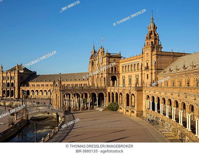 Plaza de España, Seville, Seville province, Andalusia, Spain