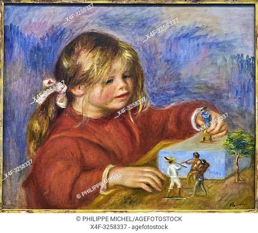 France, Paris, les Tuileries, museum of Orangerie, Claude Renoir jouant by Pierre-Auguste Renoir vers 1905