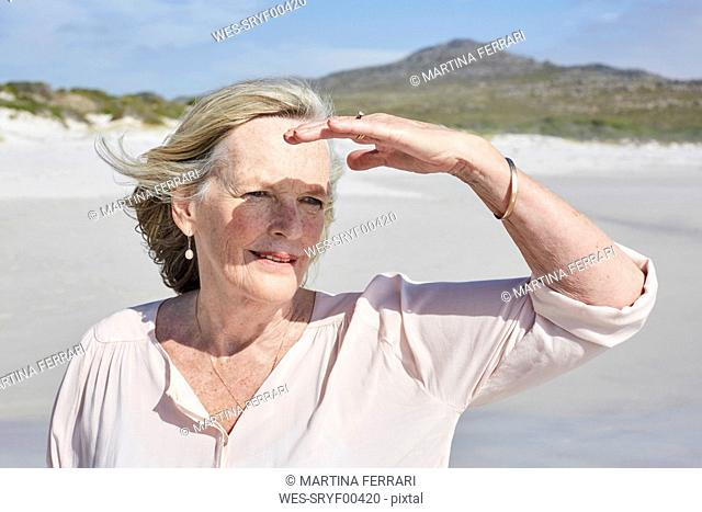 Portrait of a senior woman by the sea