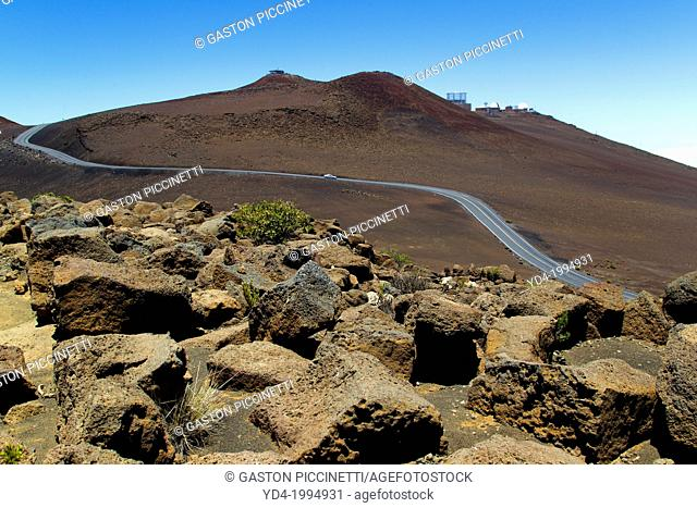 Observatory of Haleakala, Haleakala National Park, Maui Island, Hawaii, USA