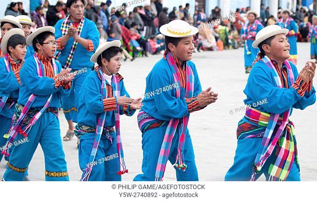 Parade for the Virgin of Urkupiña in Uyuni, Bolivia