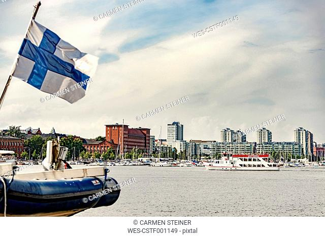 Finland, Helsinki, Harbour and city center